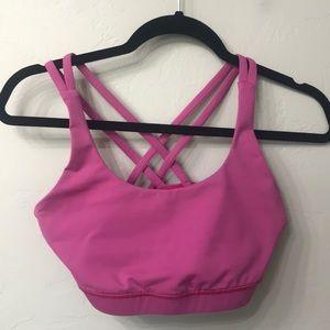 Lululemon pink strappy sports bra size 8